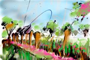 Knotwilgen aan de IJssel | Giclée Schilderkunst | Atelier Galerie Annemiek Punt