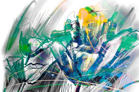 Bloemen in de Avondzon | Giclée Schilderkunst | Atelier Galerie Annemiek Punt