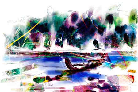 Korjaal in de Amazone | Giclée Schilderkunst | Atelier Galerie Annemiek Punt