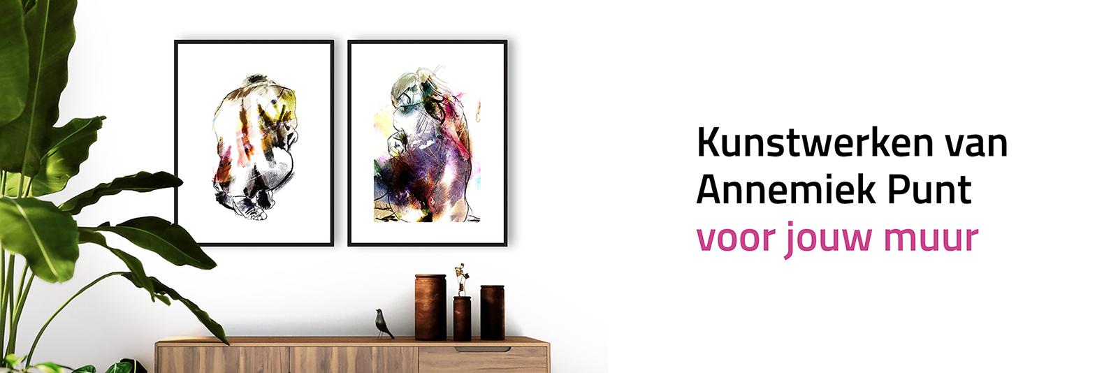 Banner Stille Kracht Wind en Tegenwind | Giclée Schilderkunst | Atelier Galerie Annemiek Punt