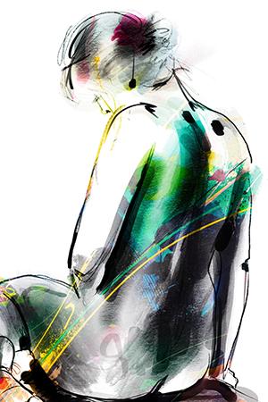 Overdenking | Giclée Schilderkunst | Atelier Galerie Annemiek Punt