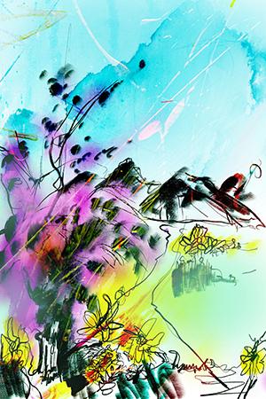 De Wandeling | Giclée Schilderkunst | Atelier Galerie Annemiek Punt