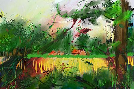 Twents Landschap | Giclée Schilderkunst | Atelier Galerie Annemiek Punt