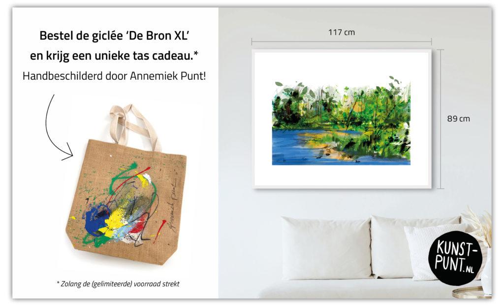 Unieke tas cadeau | Giclée Schilderkunst | Atelier Galerie Annemiek Punt