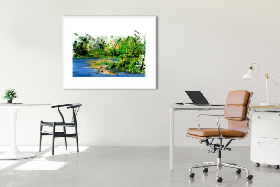 De Bron XL | Giclée Schilderkunst | Atelier Galerie Annemiek Punt