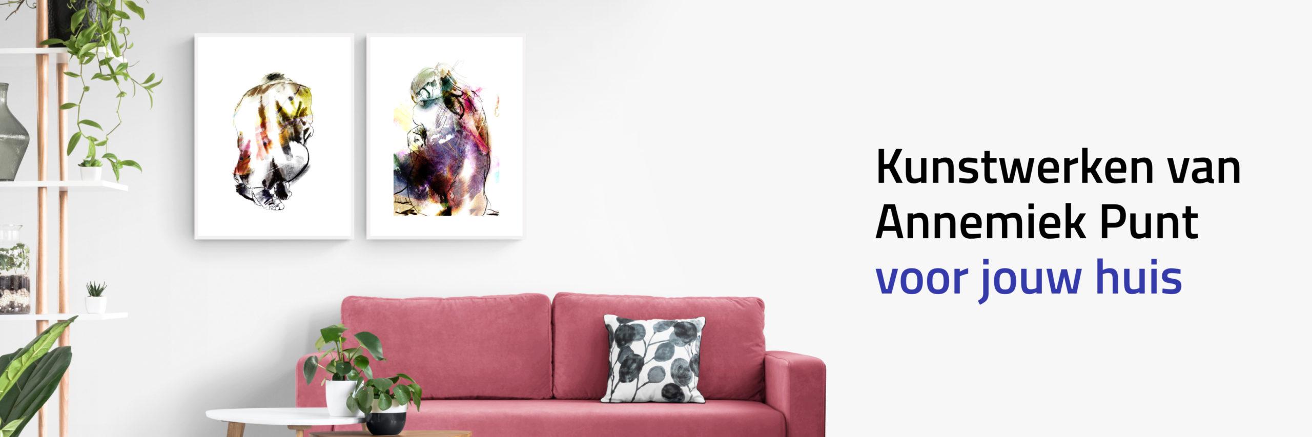 Banner Stille Kracht en Wind en Tegenwind | Giclée Schilderkunst | Atelier Galerie Annemiek Punt
