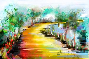 Onderweg | Giclée Schilderkunst | Atelier Galerie Annemiek Punt